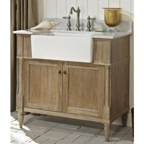 F142fv36 Fsf2416wh Ftfv3823wc Rustic Chic 31 To 44 Bathroom Vanity Weathered Oak White At Shop Ferguson Com Farmhouse Vanity Inexpensive Bathroom Vanity Rustic Bathroom Vanities