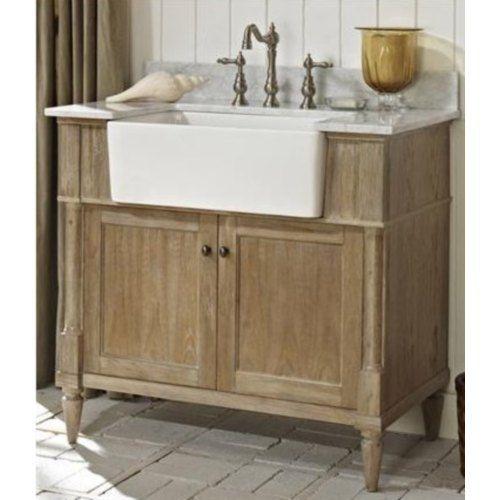 F142fv36 Fsf2416wh Ftfv3823wc Rustic Chic 31 To 44 Bathroom Vanity Weathered Oak White At Shop Ferguson Com Farmhouse Vanity Inexpensive Bathroom Vanity Rustic Bathroom Vanities