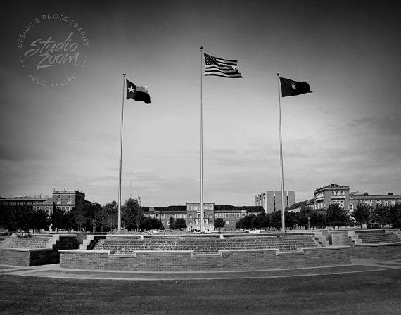 Texas Tech Memorial Circle Black And White Fine Art By Studiozoom