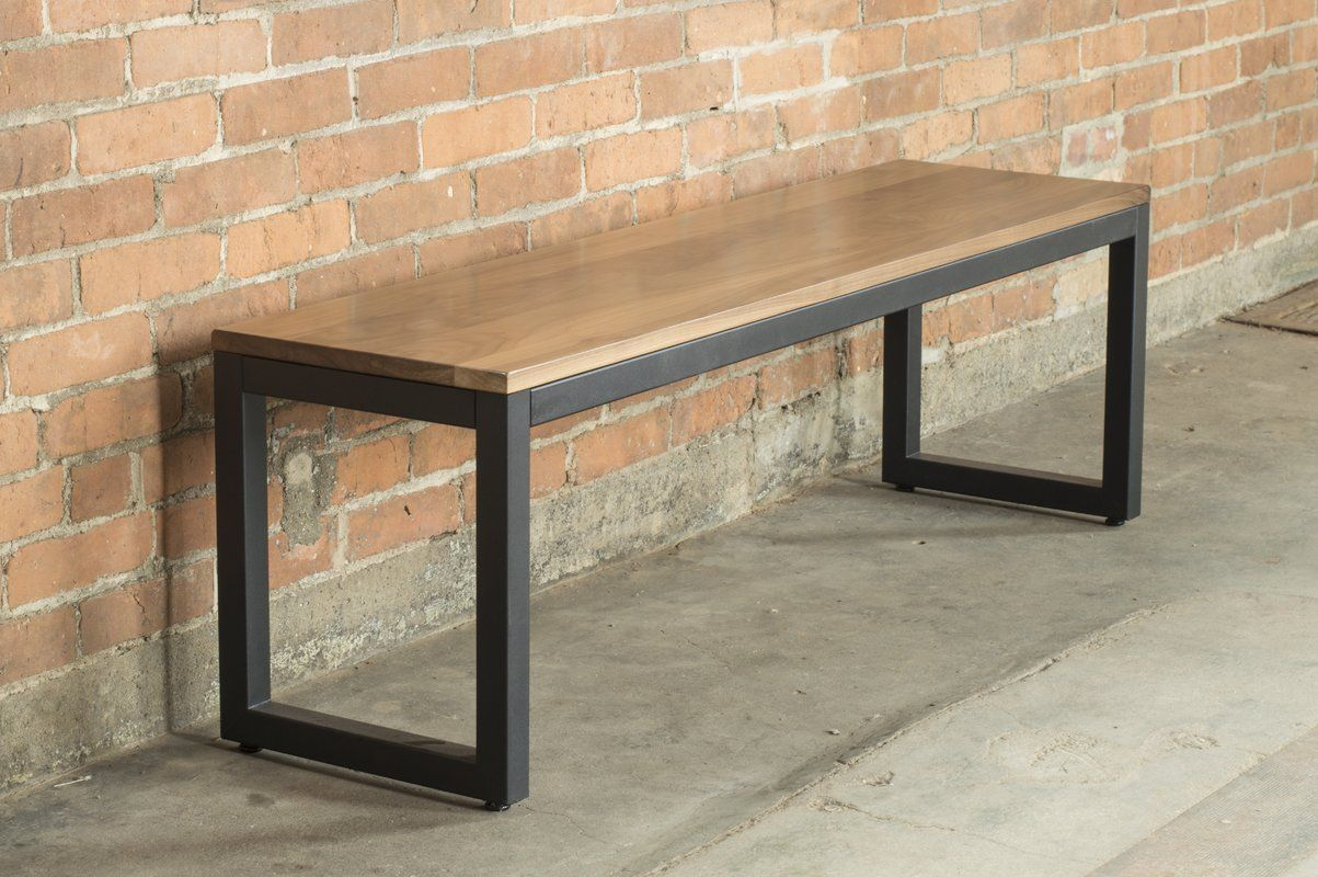 Loft Metal And Wood Bench Metal And Wood Bench Metal Bench Furniture