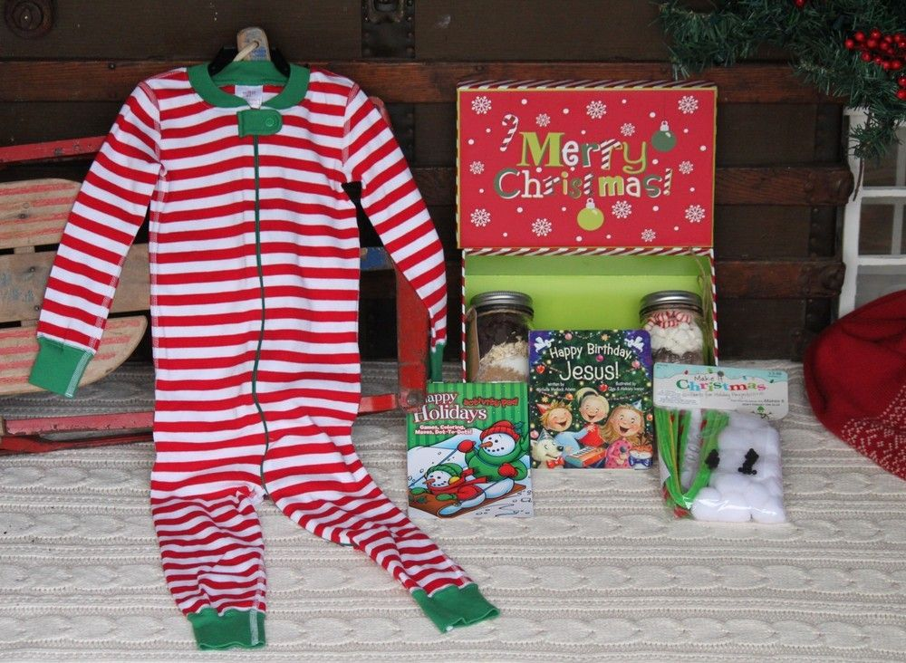 Christmas eve gift box pajamas for women
