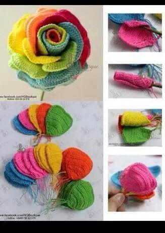 Love these | duru | Pinterest | Flores, Flores tejidas y Tejido