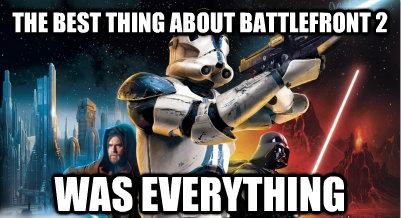 Star Wars Battlefront Ii Meme Google Search Star Wars Facts Star Wars Humor Star Wars Battlefront
