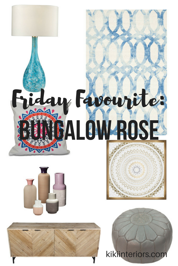 Boho inspired home decor ideas - love these finds from Bungalow Rose ...
