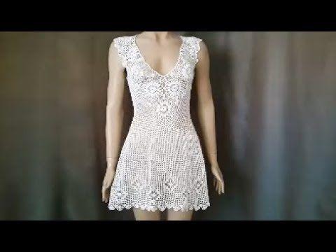 010981ce60 vestidos tejidos en crochet para dama - YouTube