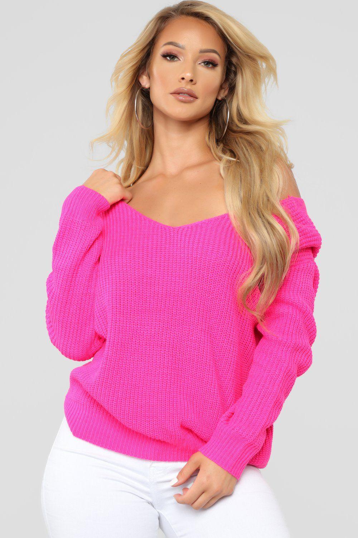 c07f382d8b Carianna Twist Front Sweater - Neon Fuchsia in 2019