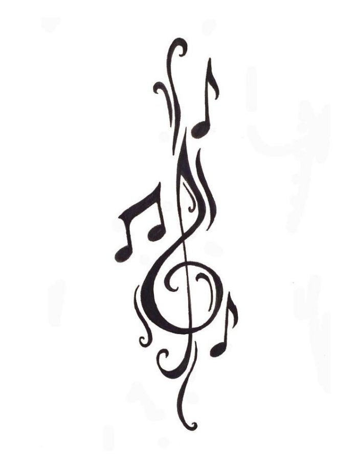 Violinschlussel Aufkleber Notenschlussel 2