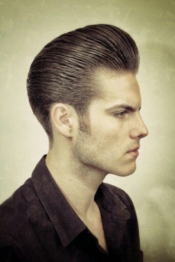 Long Trim Pompadour Greaser Hair Beard Images Hair And Beard Styles
