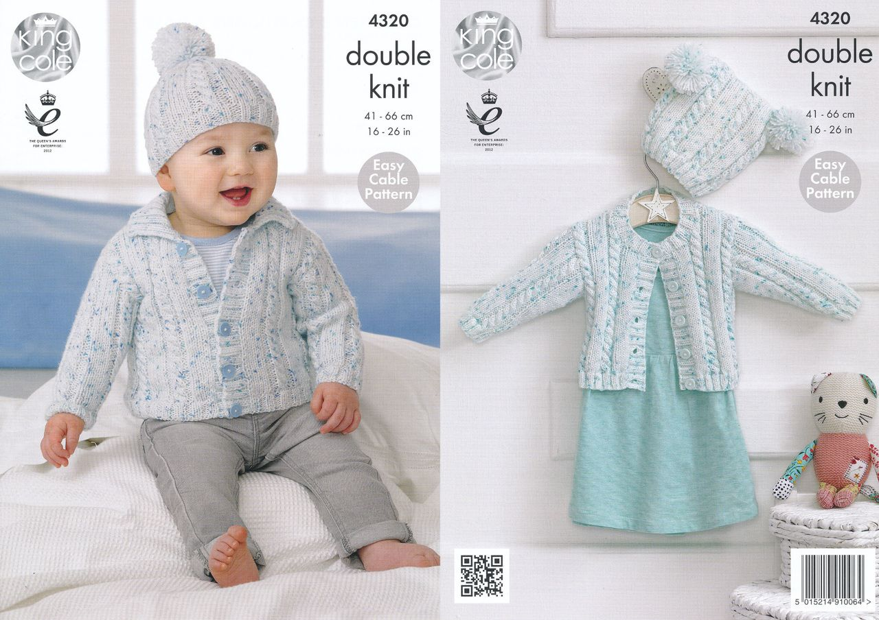 King Cole Crochet Patterns Book Sweaters Cardigans Hats Bag Dress