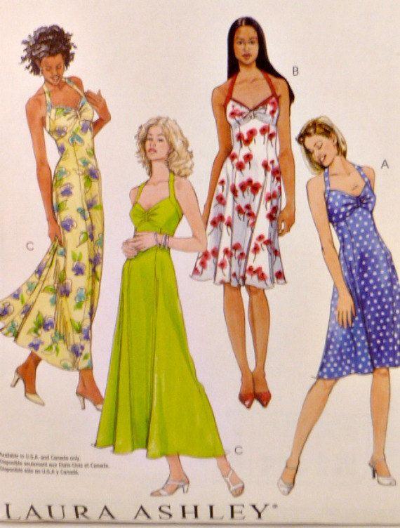 MISSES//MISSES PETITE HALTER DRESS IN 2 LENGTHS Pattern McCalls 4444
