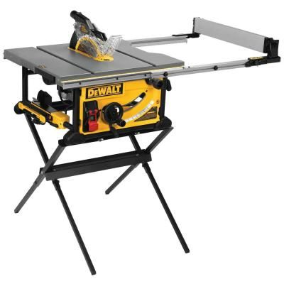 Dewalt 15 Amp Corded 10 In Jobsite Table Saw With Scissor Stand Dwe7491x The Home Depot In 2020 Jobsite Table Saw Table Saw Home Made Table Saw