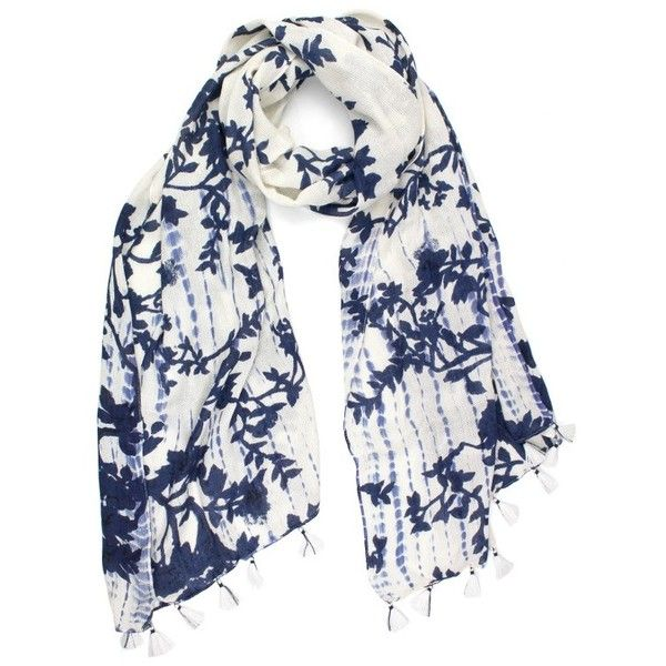Women's Michael Stars Tie Dye Garden Scarf ($48) ❤ liked on Polyvore featuring accessories, scarves, floral scarves, michael stars, tie dye shawl, michael stars scarves and batik scarves