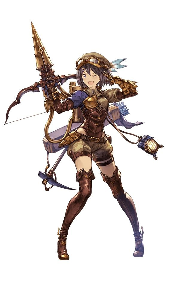 Feena granblue fantasy character design inspiration pinterest illustration personnage - Personnage manga fille ...