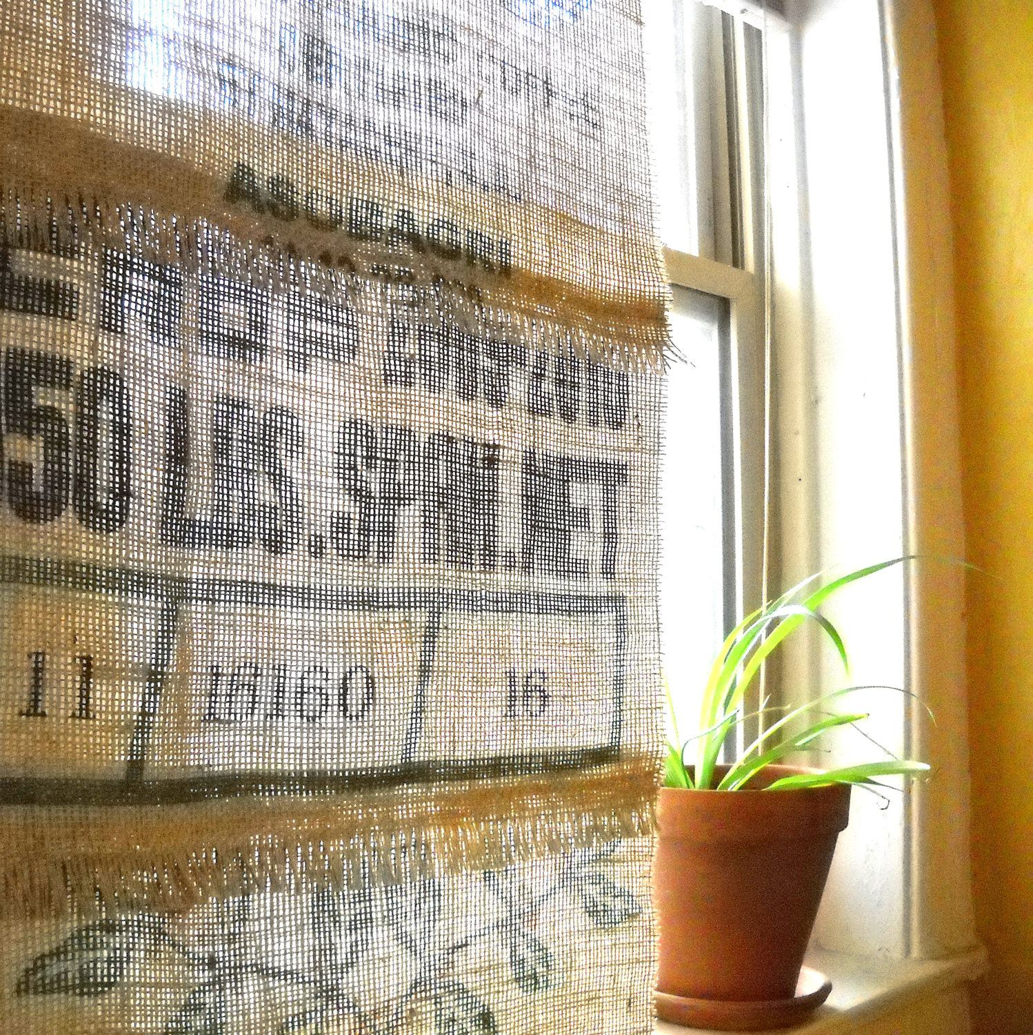 Coffee Sack curtains! AWESOME! | Great IDEAs! | Pinterest ...
