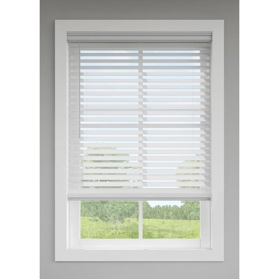 Levolor 2 5 In Cordless Gray Room Darkening Faux Wood Blinds Common 35 In Actual 34 5 In X 72 In At Lowes Com Blinds Wood Blinds Wood Room