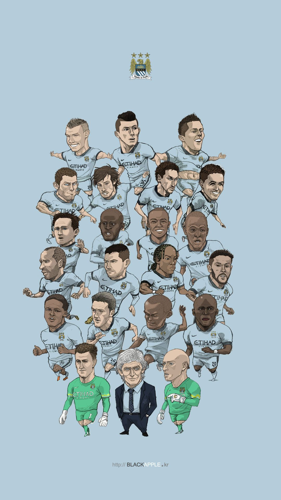 Manchester City Wallpaper For Bedrooms Manchester City Fan Art For Mobile Wallpaper All Squad In 2014