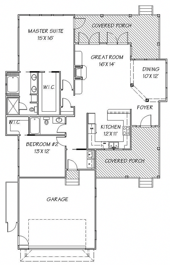 Cottagedecor 2 Bedroom House Plans House Plans Small House Plans