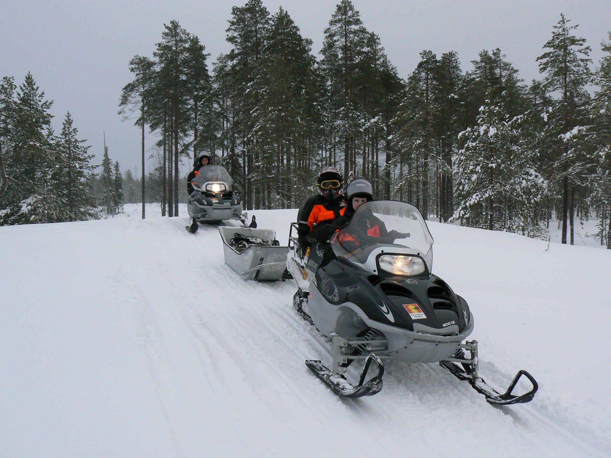 Snowmobile safari in Finland