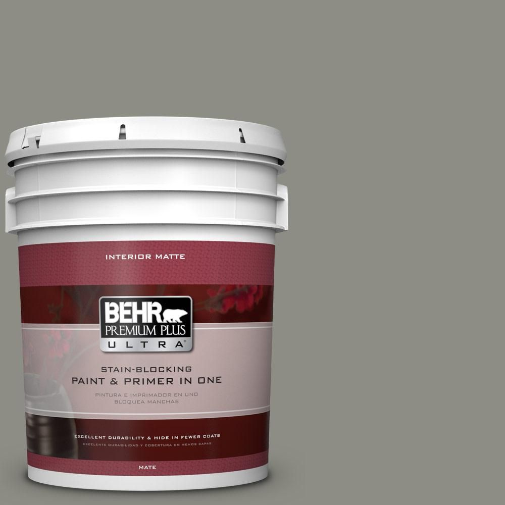 Behr Ultra 5 Gal N370 5 Incognito Matte Interior Paint And Primer In One 175405 Interior Paint Behr Exterior Paint