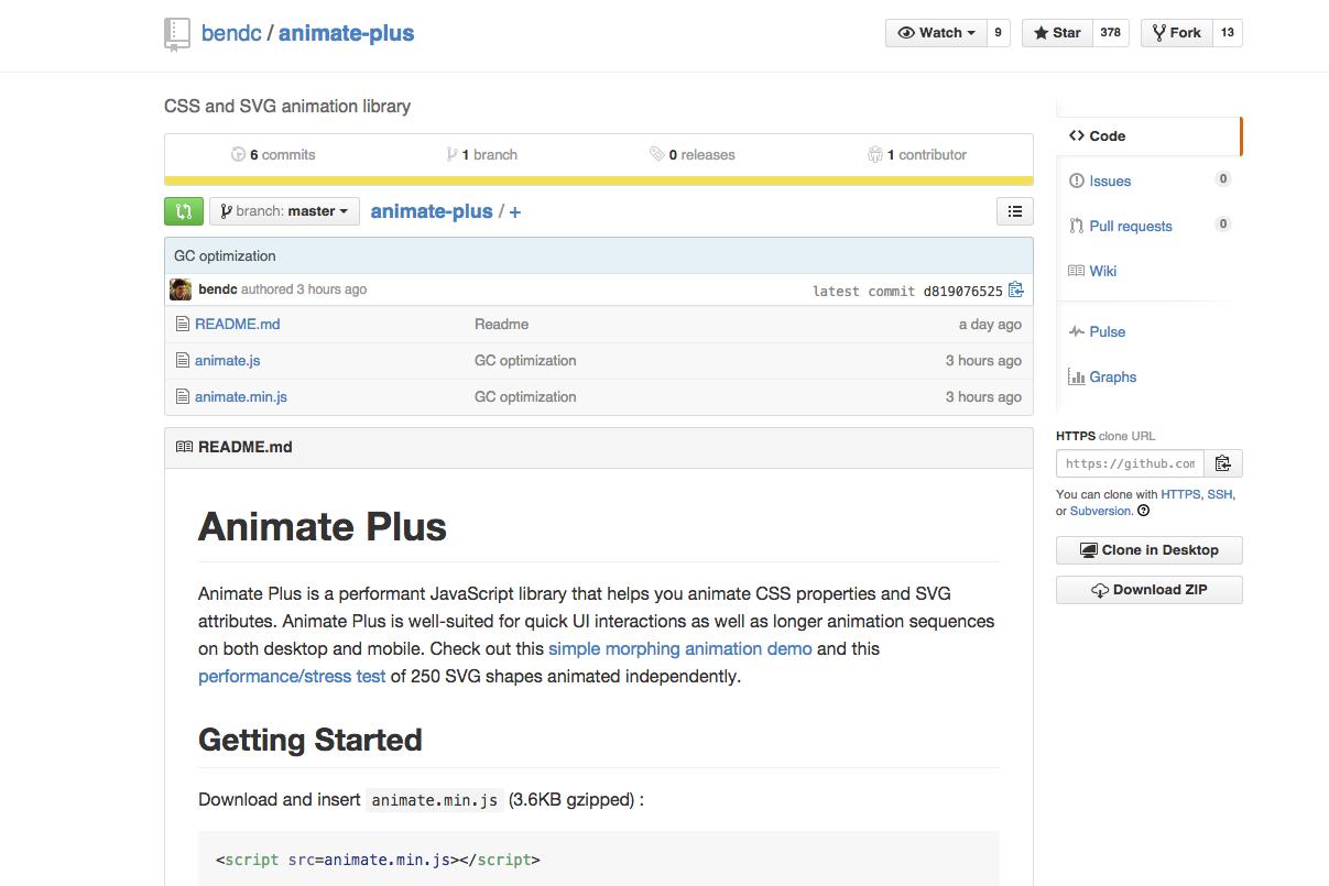 Animate Plus Animate Plus Is A Performant Javascript Library