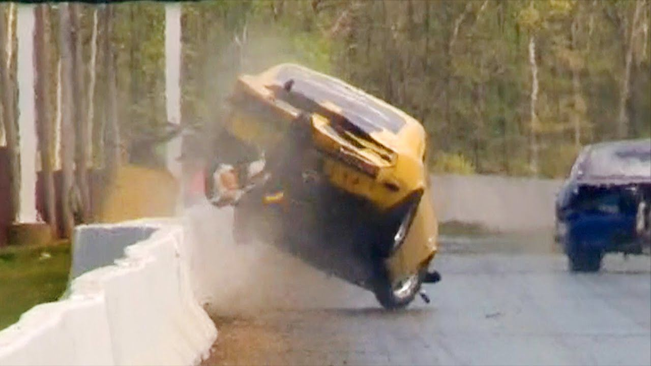 Dirk Miller Outlaw 10 5 Crash at Cecil County Dragway