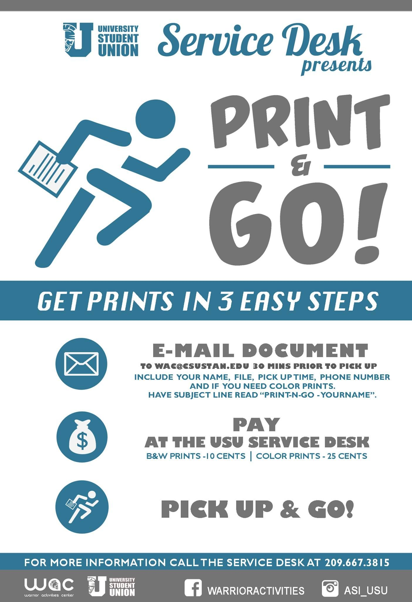 Print Go Services Are Available At The Usu Service Desk