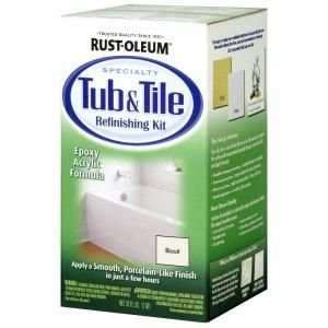 rust oleum specialty 1 qt biscuit tub and tile refinishing kit in rh pinterest com