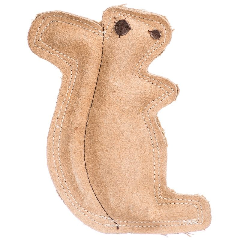 Spot Dura Fused Leather Dog Toy Squirrel Daisy Dog Toys