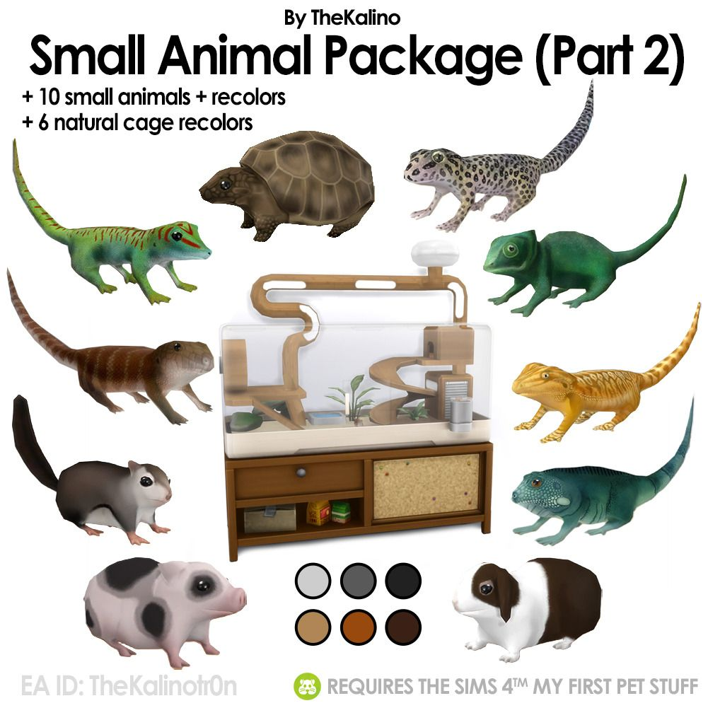 Small Animal Package Part 2 Sims 4 Pets Sims Pets Sims 4