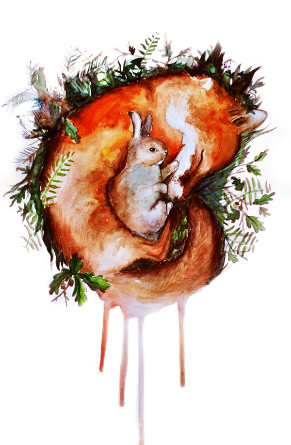 Fox And Rabbit On Behance Inspiration Thigh In 2019