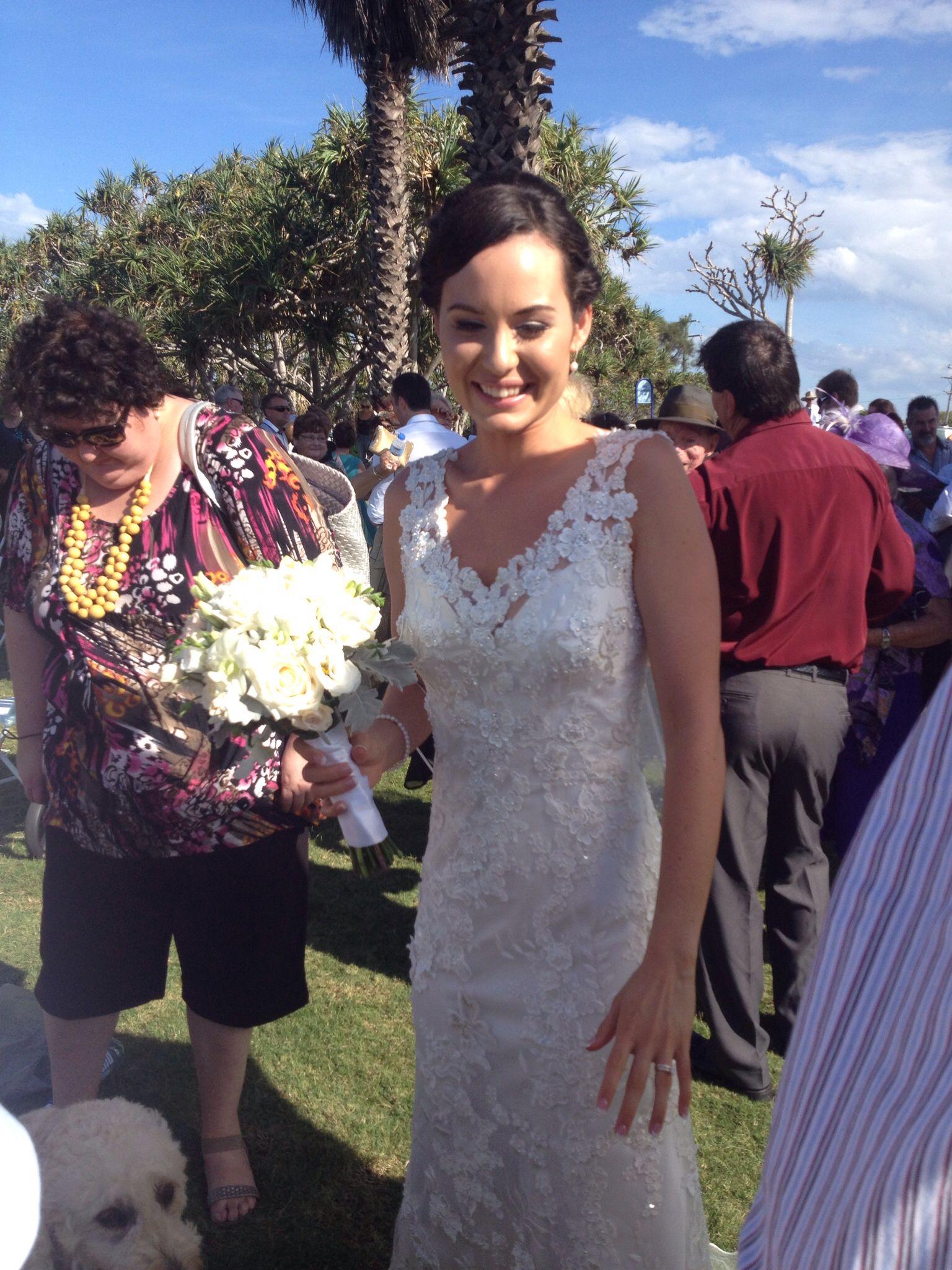 This wedding was best wedding beautiful dress and hair cyra