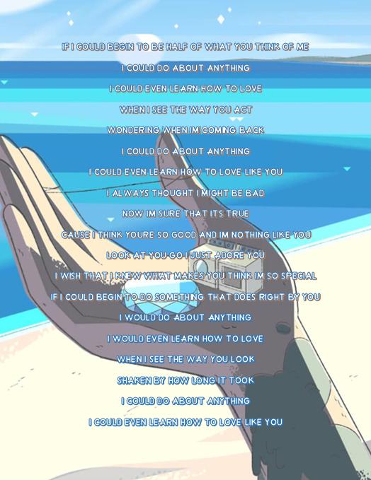 Renegadeearl Love Like You By Rebecca Sugar This Song Is So Beautiful I M So Glad We Finally Steven Universe Lyrics Steven Universe Memes Steven Universe