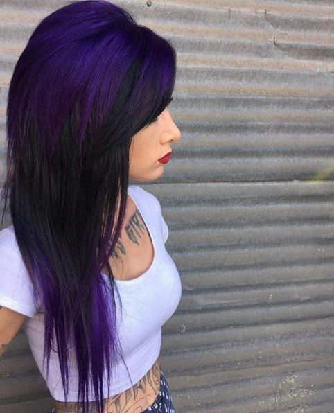 Proof That All Brunettes Can Rock Amethyst Hairamethyst