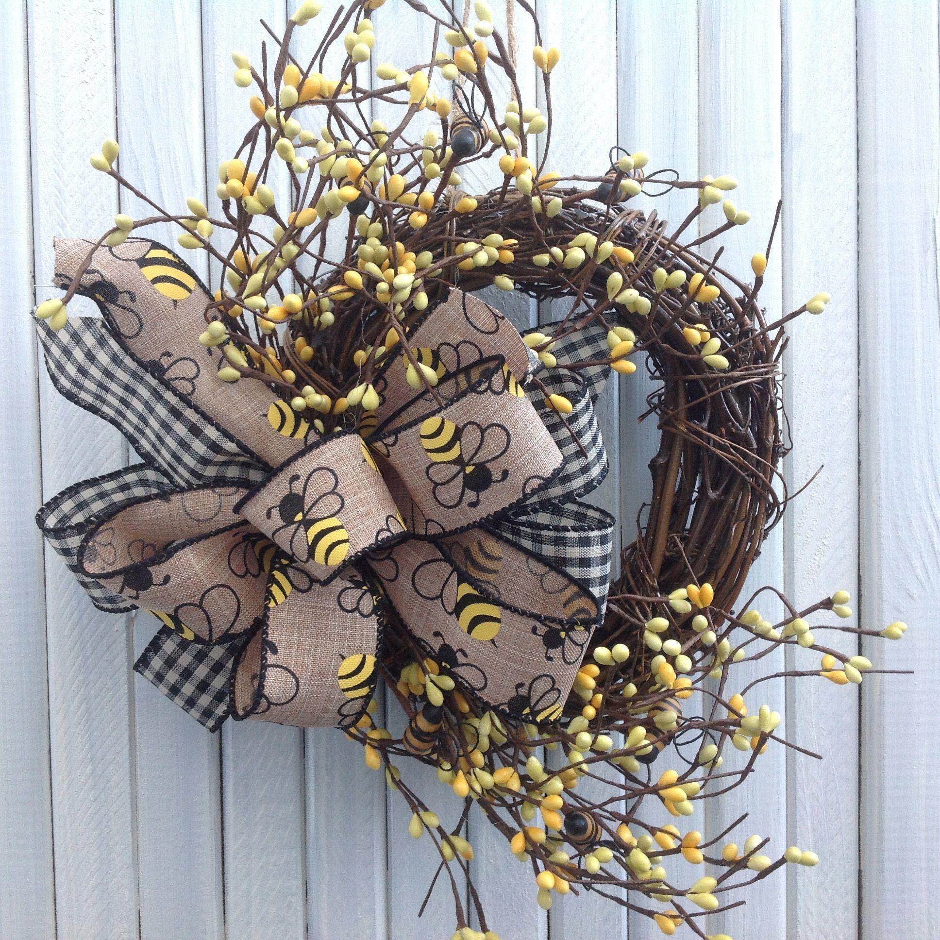 Bee Wreathgrapevine Wreathgrapevine Bee Wreathbeegrapevinefarmhouse