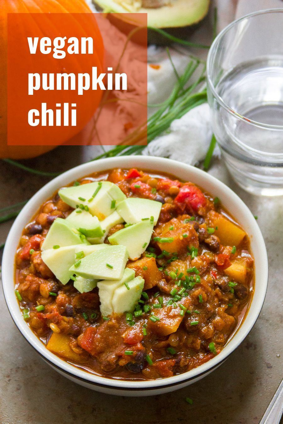 Say Hello To The Ultimate Pumpkin Chili This Hearty Vegan Stew Is Packed With Juicy Pu Pumpkin Recipes Dinner Vegetarian Pumpkin Chili Pumpkin Recipes Healthy