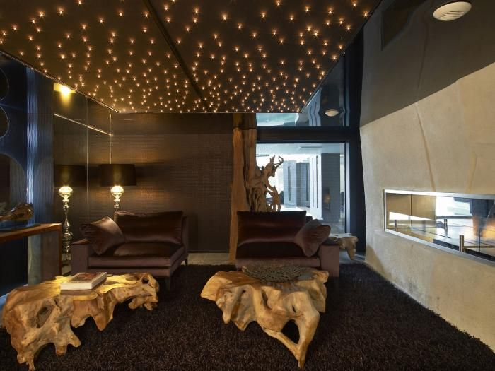 Le plafond lumineux jolis designs de faux plafonds et d 39 int rieurs modernes - Plafond chambre etoile ...