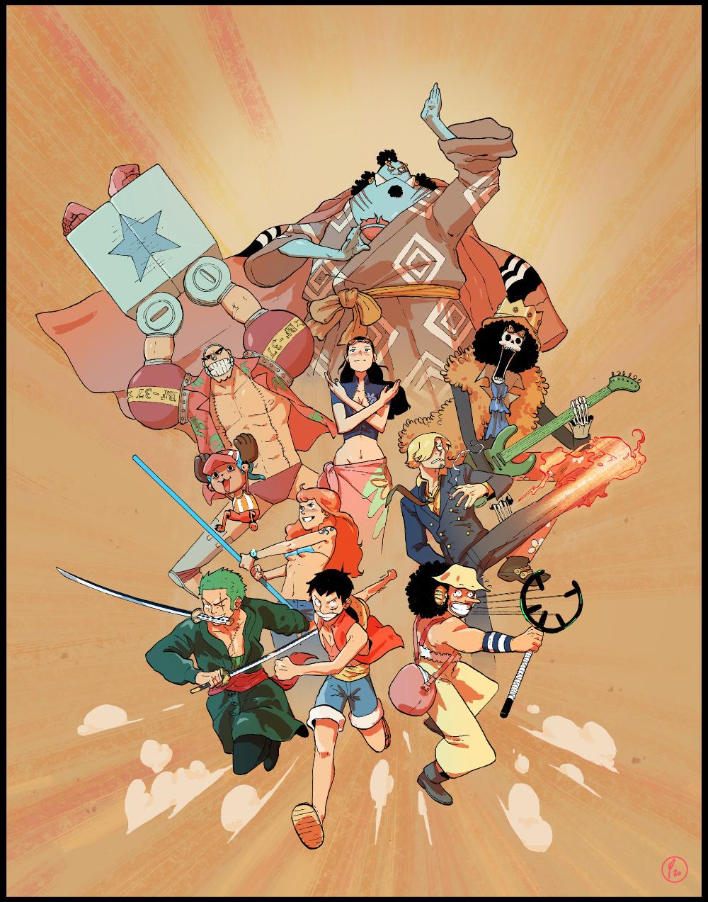 ArtStation One Piece, Clément Poumirau in 2020 One