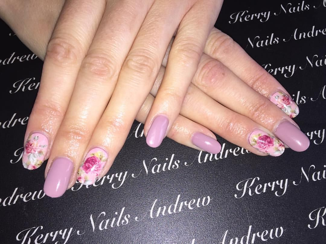 Gel Polish • Dusty Rose • Rose Water Decals •nails nail