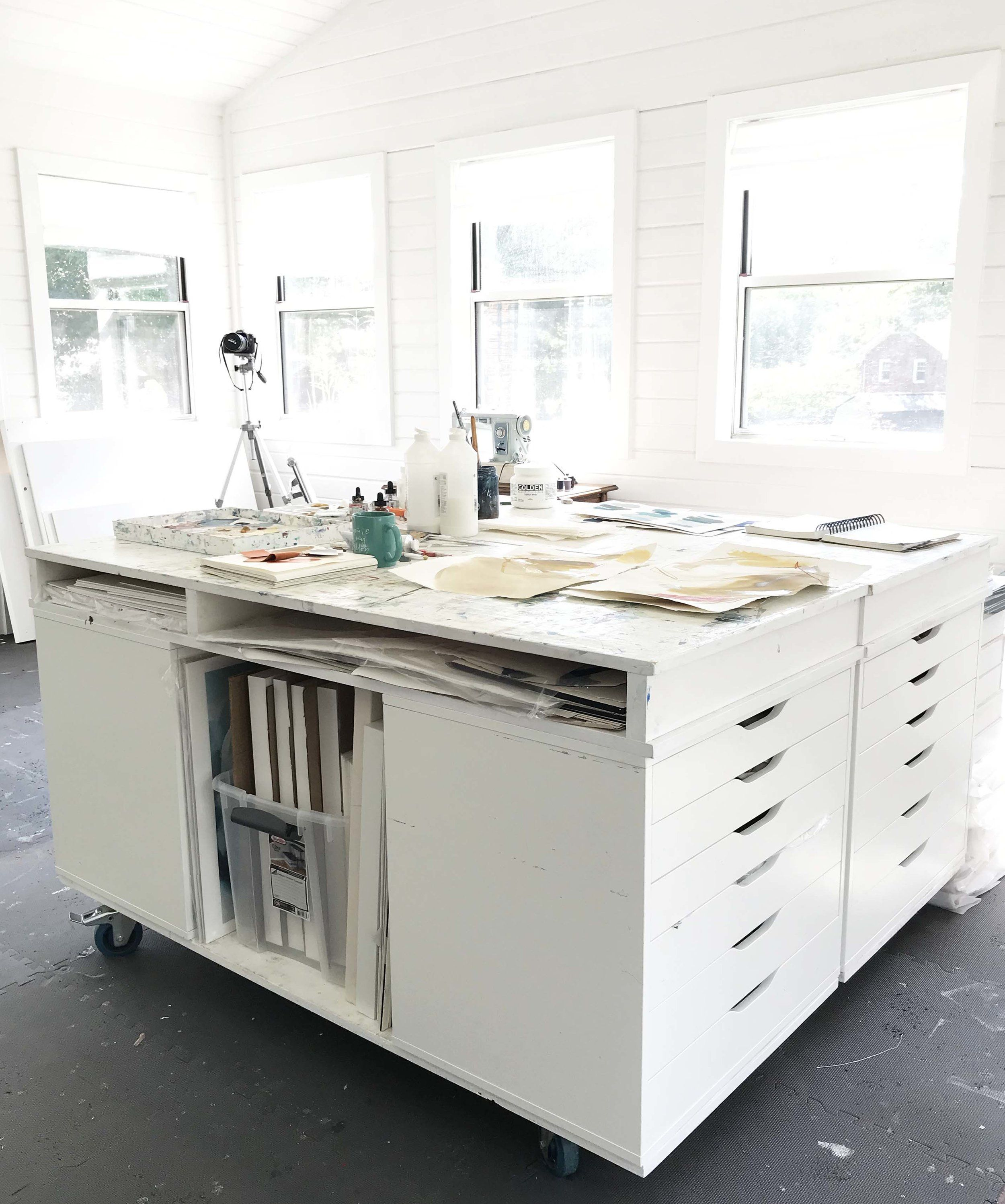 Creating A Custom Art Studio Table Studio Table Ikea Alex