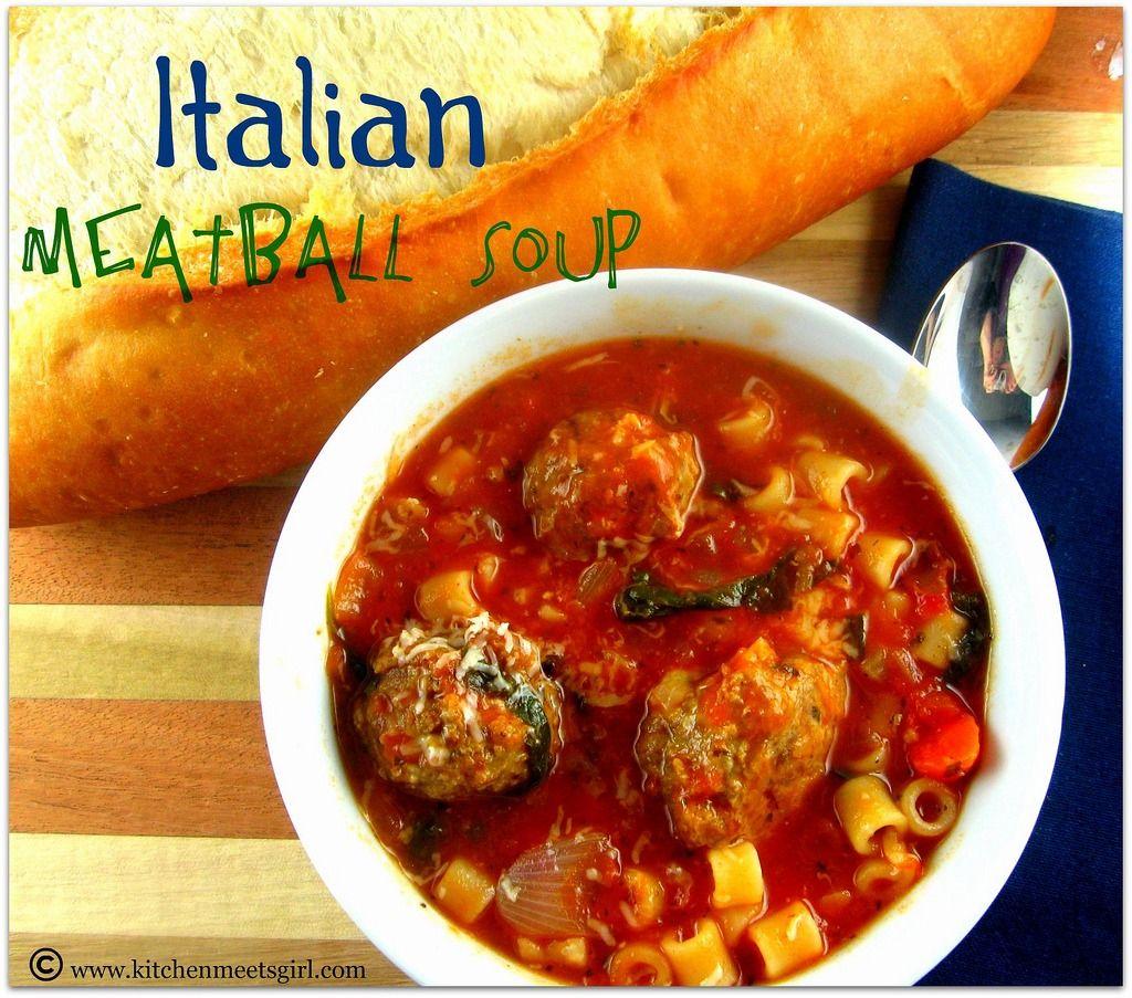 Italian Meatball Soup Meatball soup, Italian meatball