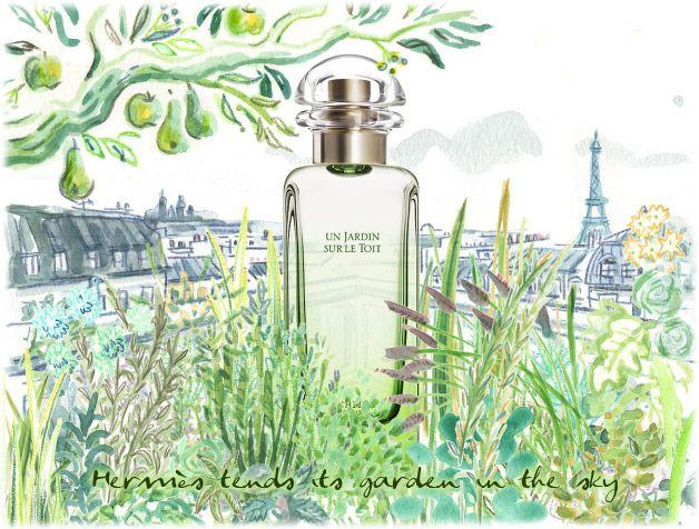 Love This Illustration Hermes Un Jardin Sur Le Toit Hermes