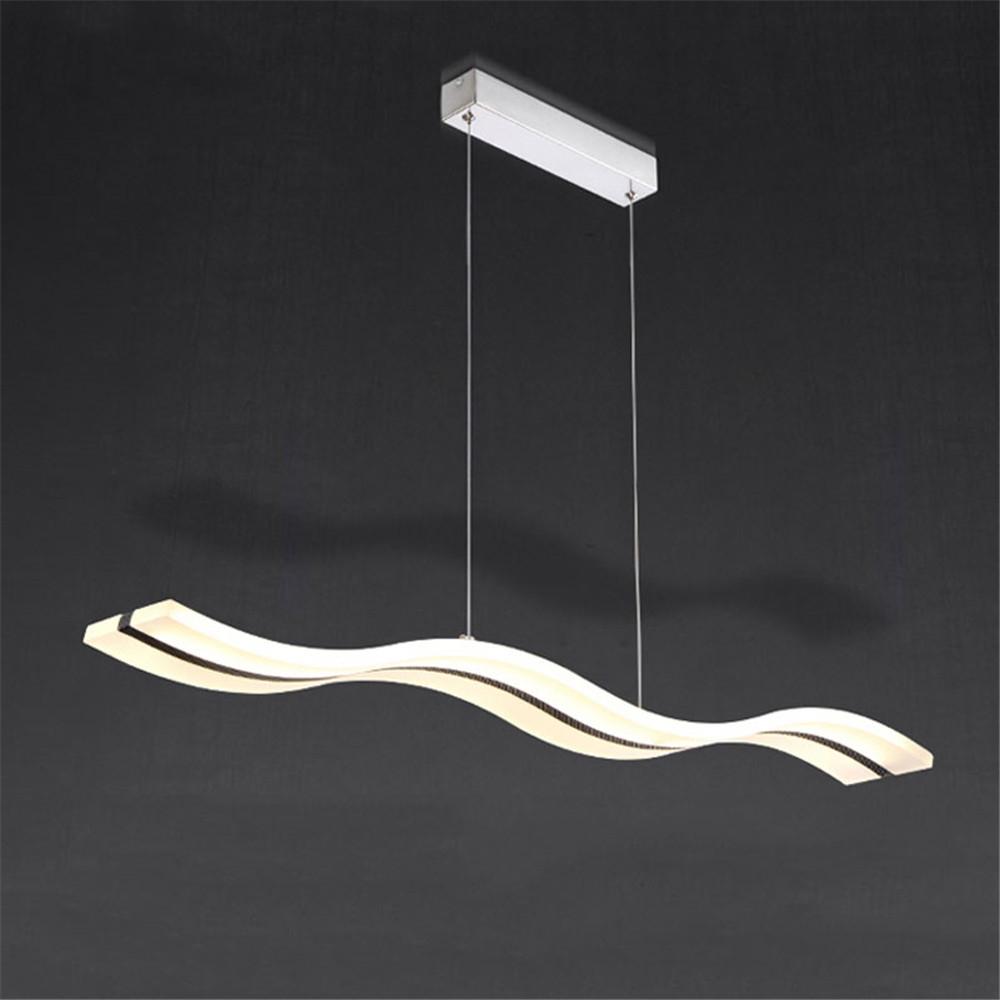 115.43$  Buy here - http://ali5wf.worldwells.pw/go.php?t=32779306075 - Modern Popular wave shape 38W Acryl pendant light, dinning room foyer kitchen hanging lamp, suspend luminaire Home Lighting 115.43$