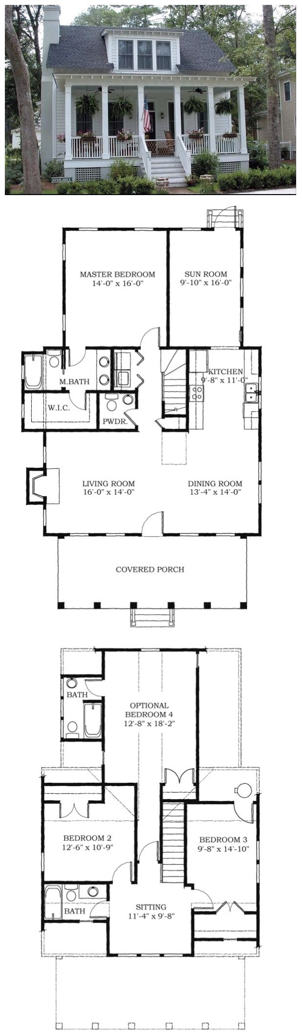 Southern Style House Plan 73733 With 4 Bed 4 Bath Cottage Floor Plans Cottage Plan Small House Plans
