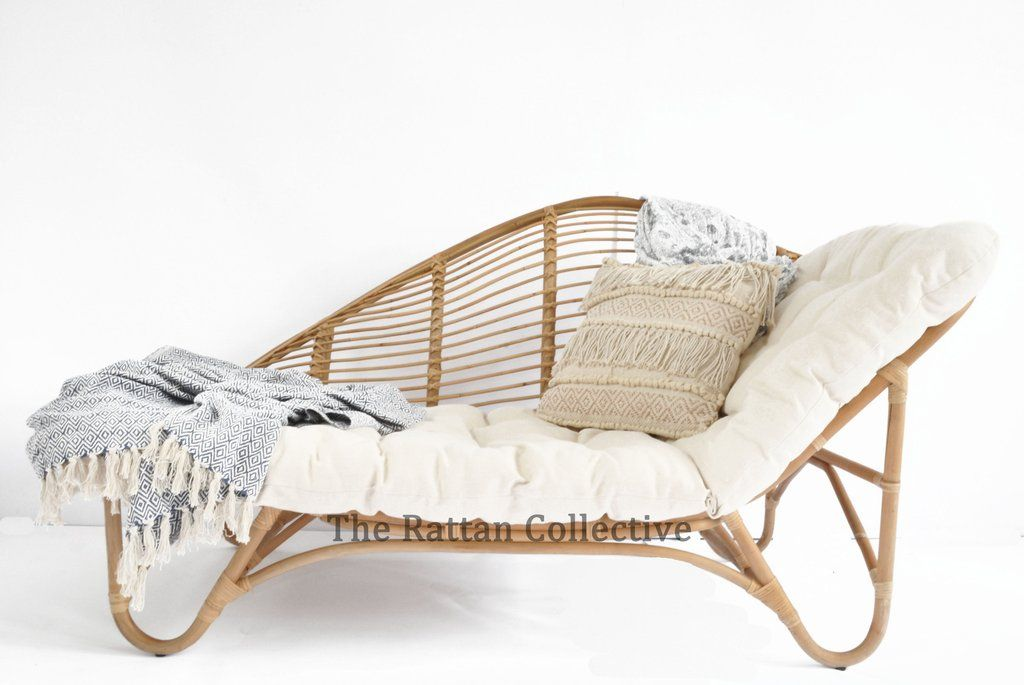 rattan lounger chaise daybed byronbay the rattan collective byron - muebles de mimbre