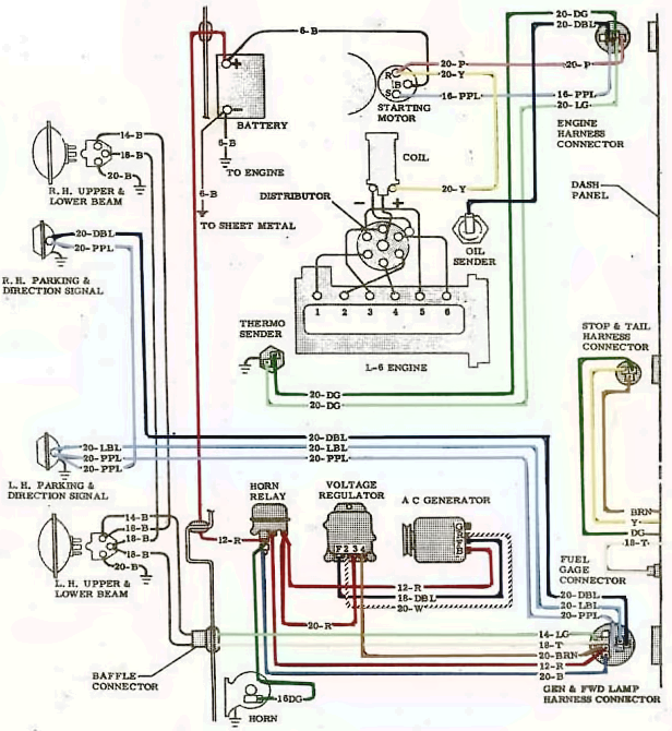 1964 GMC Truck Electrical System Wiring Diagram Schematic