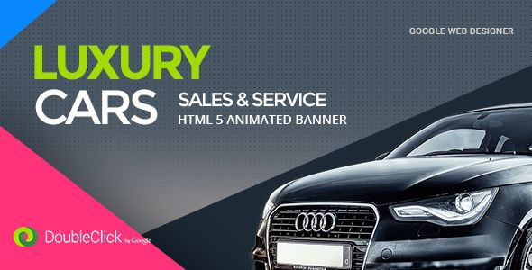 awesome Vehicle Sales and Service - HTML Animated Banner 02 (Ad - car ad template