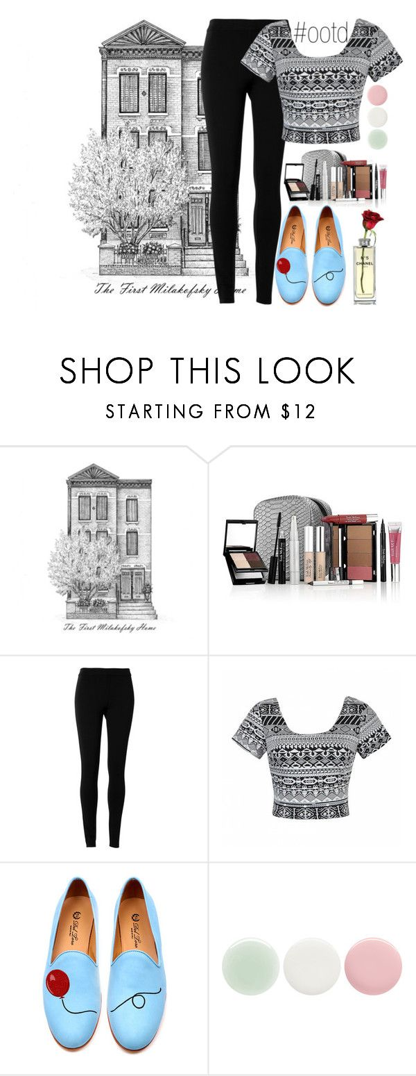 """""""#ootd"""" by victoriakfc on Polyvore featuring Trish McEvoy, Max Studio, Ally Fashion, Del Toro, Nails Inc., ootd, blackandwhite and pastels"""