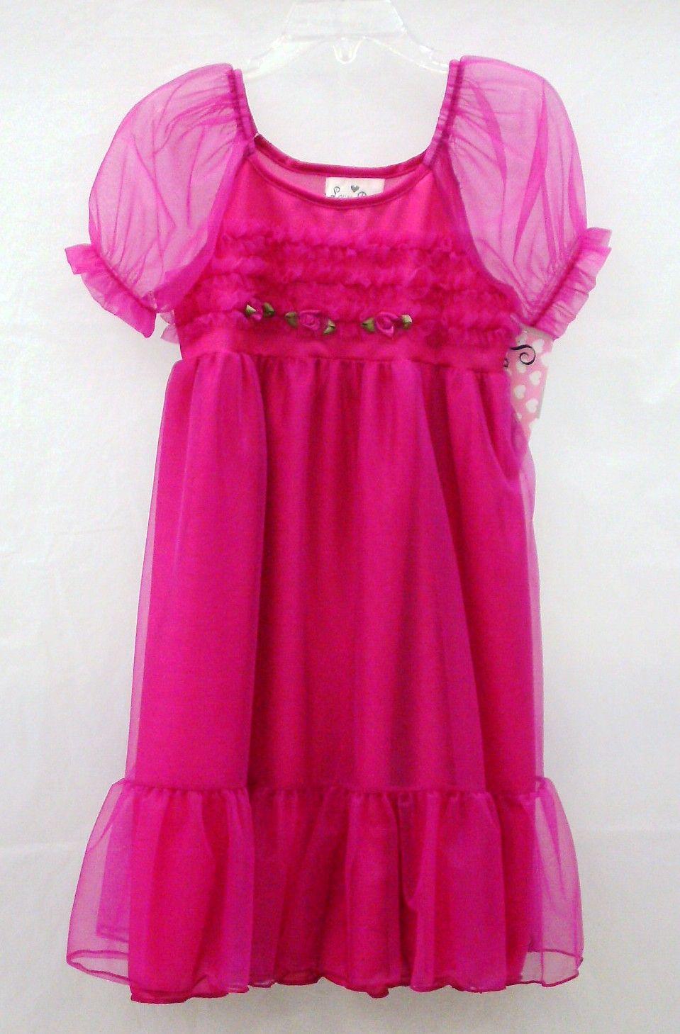 Laura Dare Baby Girls Rosebud Jersey Infant Long Sleeve Pajama Nightgown