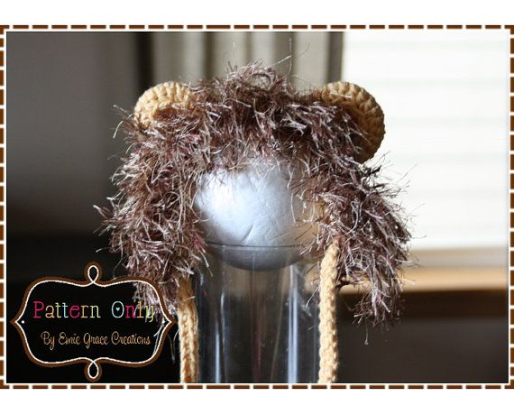 Crochet Lion Hat Pattern, 8 Sizes from Newborn to Adult, LIL\' LION ...