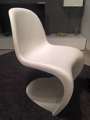 panton chair vitra im set vier weiße stühlesparen25 com sparen25